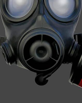 Digital Art - Gas Mask 3 by Dale Jackson