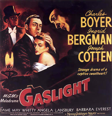 Mixed Media Royalty Free Images - Gaslight 2, with Charles Boyer and Ingrid Bergman, 1944 Royalty-Free Image by Stars on Art
