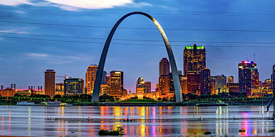 Royalty-Free and Rights-Managed Images - Gateway Arch and Saint Louis Panoramic Skyline by Gregory Ballos