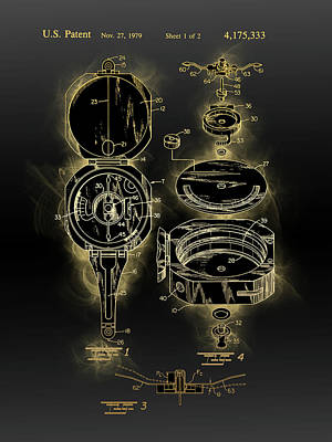 Sports Royalty-Free and Rights-Managed Images - Gauge Patent Black Gold by Bekim M