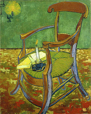 Painting Rights Managed Images - Gauguin Chair 1888  Royalty-Free Image by Vincent Van Gogh