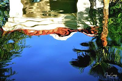 Jerry Sodorff Royalty-Free and Rights-Managed Images - Gazebo and Trees Reflection by Jerry Sodorff