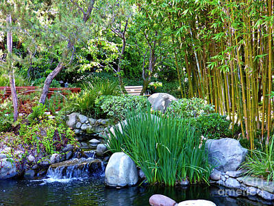 Abstract Graphics - Gazebo Pond in Garden of the World 2  by Julieanne Case
