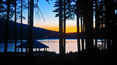Fruits And Vegetables Still Life - Gazebo Sunset At Lake Of The Woods by Joyce Dickens
