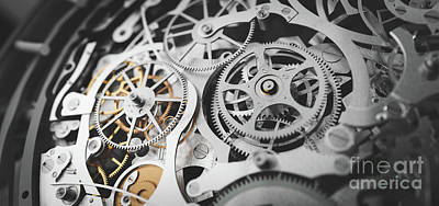 Have A Cupcake - Gears and cogs in clockwork watch mechanism. Craft and precision by Michal Bednarek