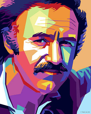 Royalty-Free and Rights-Managed Images - Gene Hackman illustration by Stars on Art