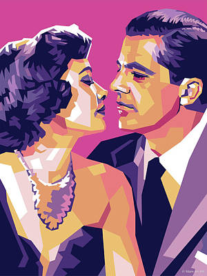 Stone Cold - Gene Tierney and Dana Andrews by Stars on Art
