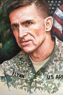 Painting - general Michael Flynn Portrait by Robert Korhonen