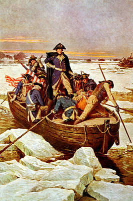 Politicians Royalty-Free and Rights-Managed Images - General Washington Crossing The Delaware River by War Is Hell Store