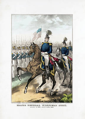 Animals Drawings - General Winfield Scott Reviewing Troops by War Is Hell Store
