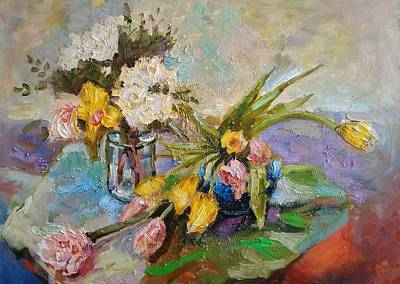 Painting - Gentle. Series Flowers by Nina Silaeva