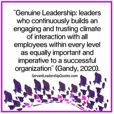 Digital Art - Genuine Leadership by Joan Ellen Kimbrough Gandy