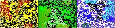 Sara Habecker Folk Print - Geometric Abstract Triptych by Will Borden