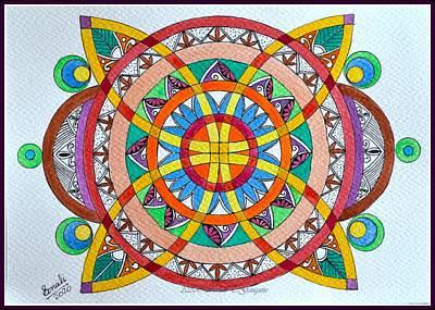 Drawings Royalty Free Images - Geometric Mandala 2 Royalty-Free Image by Sonali Gangane
