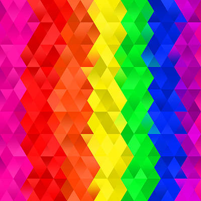 Digital Art - Geometric Rainbows I by Ruth Moratz