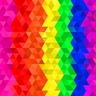 Digital Art - Geometric Rainbows II by Ruth Moratz