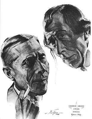 Drawings Royalty Free Images - George Arliss by Volpe Royalty-Free Image by Stars on Art