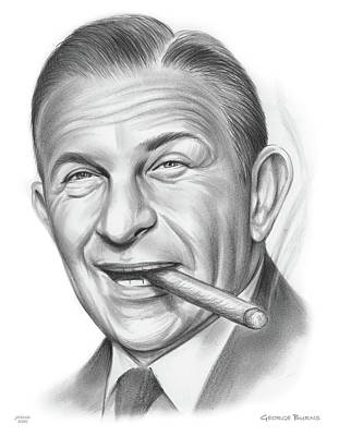 Drawings Royalty Free Images - George Burns - Pencil Royalty-Free Image by Greg Joens