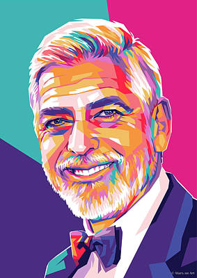 Royalty-Free and Rights-Managed Images - George Clooney by Stars on Art