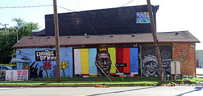 Amy Hamilton Animal Collage - George Floyd Mural Toledo Ohio  9886 by Jack Schultz