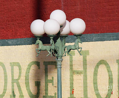 Abstract Utensils - George House Lamppost Findlay Ohio  3407 by Jack Schultz