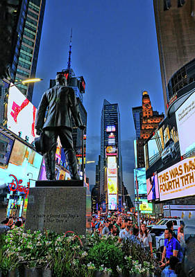 Old Masters - George M. Cohan Statue 2 - Times Square by Allen Beatty