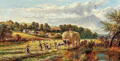 Moody Trees - George Vicat Cole British 1833 1893 Haymaking by Artistic Rifki