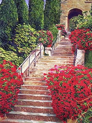 Grateful Dead - Geranium Filled Staircase by David Lloyd Glover
