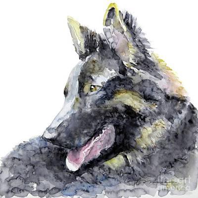 Painting - German Shepherd by Claudia Hafner