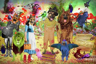 Bicycle Patents - German Shepherd Wizard of Oz by Sandra Sij