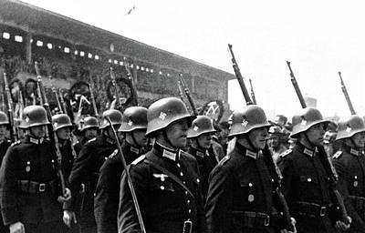 Pasta Al Dente - German Soldiers Germany circa 1935 by Artistic Rifki