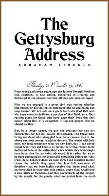 Digital Art Royalty Free Images - The Gettysburg Address Print - Abraham Lincoln Speech - American History Poster 01 Royalty-Free Image by Studio Grafiikka