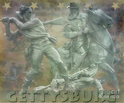 Katharine Hepburn - Gettysburg Monuments Longstreet by Randy Steele
