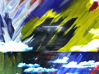 Surrealism Royalty-Free and Rights-Managed Images - Ghost on canvas by Bruce Rolff