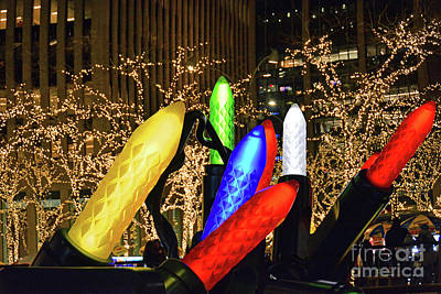 World War Two Production Posters - Giant Holiday Lights NYC by Regina Geoghan