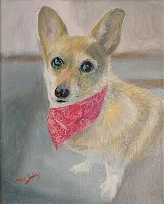 Painting - Gigi Corgi by Mike Jenkins
