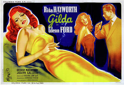 Royalty-Free and Rights-Managed Images - Gilda movie poster 1946 by Stars on Art