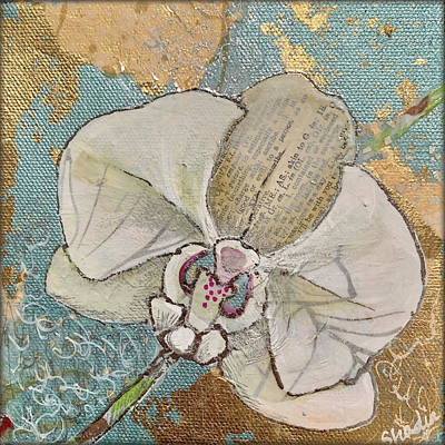 Royalty-Free and Rights-Managed Images - Gilded Orchid I by Shadia Derbyshire