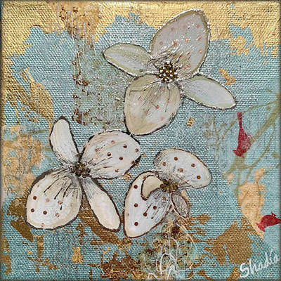 Royalty-Free and Rights-Managed Images - Gilded Orchid II by Shadia Derbyshire