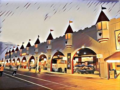 Surrealism Royalty-Free and Rights-Managed Images - Gillians at Night by Surreal Jersey Shore