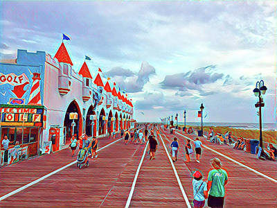 Surrealism Royalty-Free and Rights-Managed Images - Gillians on the Ocean City Boardwalk by Surreal Jersey Shore