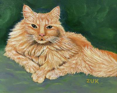 Travel - Ginger Cat Portrait by Karen Zuk Rosenblatt