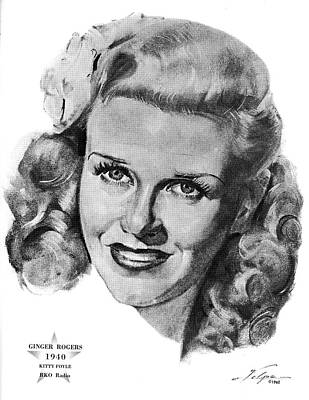 Drawings Royalty Free Images - Ginger Rogers by Volpe Royalty-Free Image by Stars on Art
