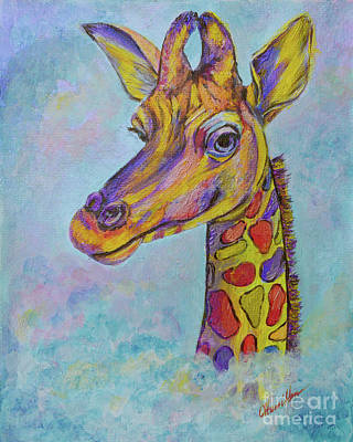 Painting - Giraffe in The Clouds by Olga Hamilton