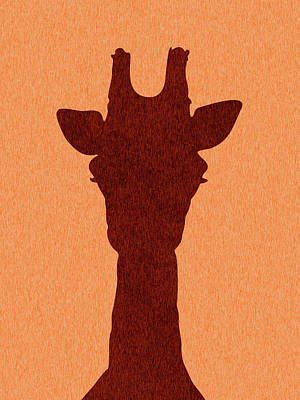Royalty-Free and Rights-Managed Images - Giraffe Silhouette - Scandinavian Nursery Decor - Animal Friends - For Kids Room - Minimal by Studio Grafiikka