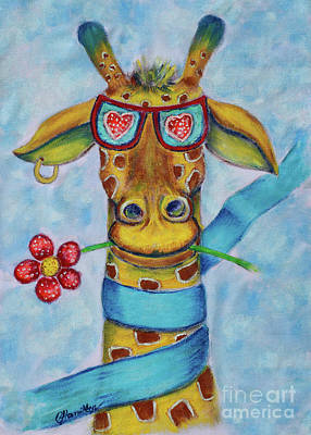 Painting - Giraffino The Giraffe by Olga Hamilton