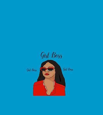 Digital Art - Girl Boss by Yvonne Carson