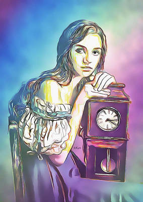 Grateful Dead - Girl with old clock by Nenad Vasic
