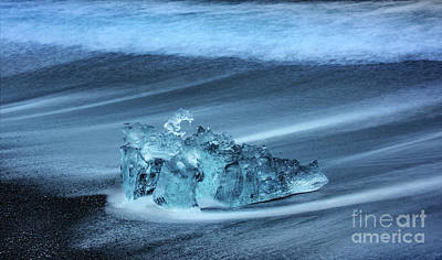 Grace Kelly - Glacial Ice - Jokulsarlon by Sandra Bronstein