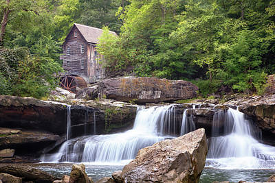 Rights Managed Images - Glade Creek Grist Mill - Babcock State Park Royalty-Free Image by Susan Rissi Tregoning